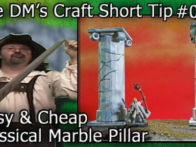 Make a Miniature CLASSICAL MARBLE PILLAR Out of Junk (DM's Craft. Short Tip #86)