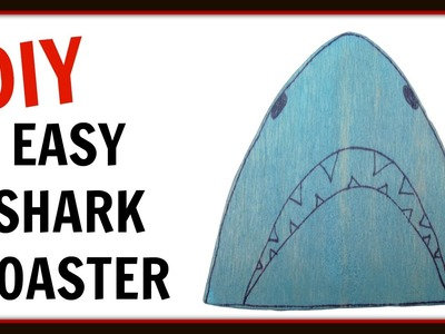 Shark Drink Coasters DIY ~ Inspired by Shark Week ~ Another Coaster Friday™ Craft Klatch ~ How To