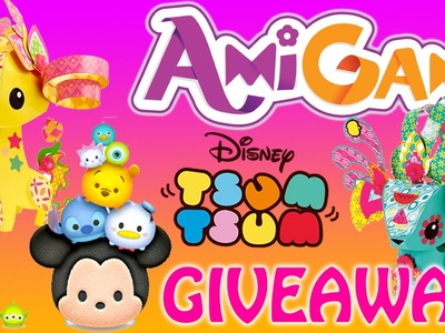 Tsum Tsum GIVEAWAY AmiGami Paper Pop Out Styling Craft Giraffe Wild Animal Pet Playset Review Mattel