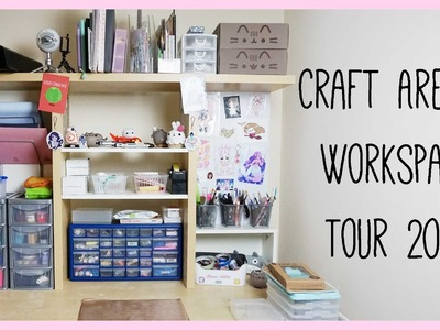 Updated Craft Area. Workspace Tour 2016 ● xoxRufus, Polymer Clay