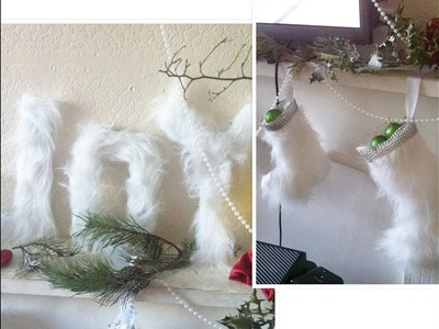 2 of the best expensive looking fur Christmas  decor   2016 DIY