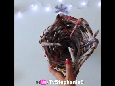 5 Minute Crafts - Christmas Tree From Old Newspapers