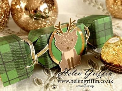 6th Day Of Christmas 2016 - Reindeer Ferrero Rocher Christmas Cracker Stampin'Up! Tutorial