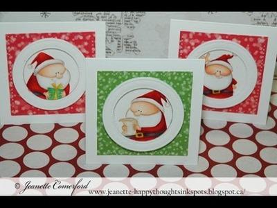 Christmas Series 2016 #6 Santa Mini Cards