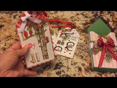 Christmas Tags and Box Using My Stash and Box Tutorial
