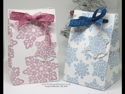 Crafty Christmas Countdown #17   Easy gift bag using the Gift Bag Punch Board