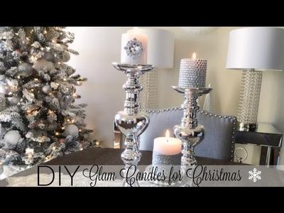 DIY Glamorous Candles - Christmas Decor 2016