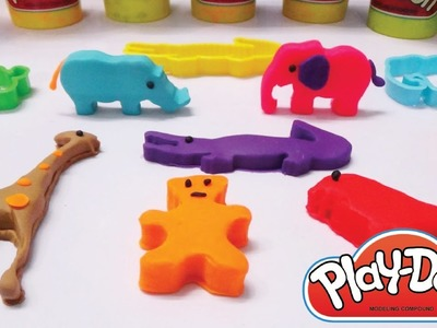 DIY How To Make Animals Playdough without Modelling Clay | Learn Colors For Children w. Hulk