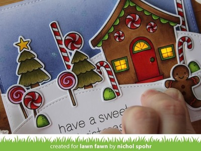 Lawn Fawn + Chibitronics | Have a Sweet Christmas Light Up Card