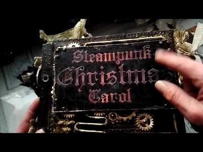 Steampunk Christmas Carol journal for swap