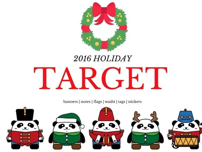 Target 2016 Holiday. Christmas haul (Dollar spot. Bullseye's Playground)