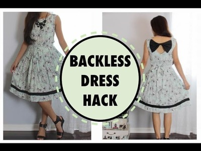 BACKLESS DRESS HACK, Sewing project for beginners