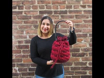 Basket Stitch Bag Tutorial.Cómo hacer bolso el punto cesto en ganchillo