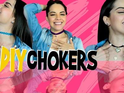 DIY chokers   Gargantillas   Arely Tellez