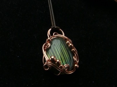 Free Form Swirly Bezel Cabochon Pendant Wire  Wrapping Tutorial