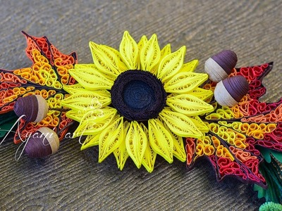 Quilling Tutorial - Sunflower (Fall Wreath - part 3 of 6)