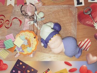 DIY RECUERDO BABY SHOWER HECHO FOAMY MOLDEABLE