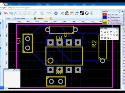 EasyEDA - Free online Schematic & PCB Design Software + How to make a PCB