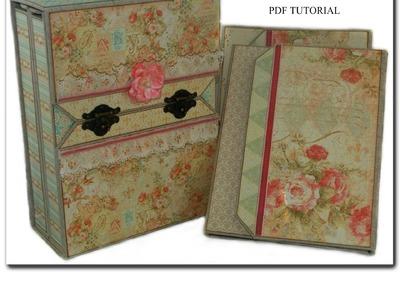 "Graphic 45 ""Baby 2 Bride Photo Folios with Storage Box"" - PDF Tutorial"