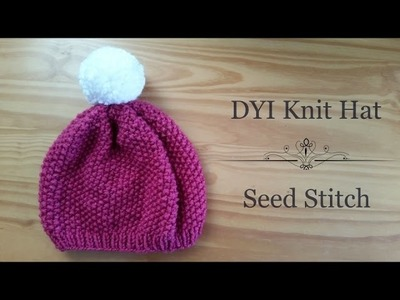 How to Knit a Hat (Seed Stitch)