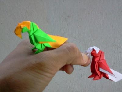 How to make Origami Bird parrot (barth dunkan)