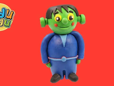 Learn How to Make Halloween Baby Frankenstein | Playdoh Modlling Creative DIY Fun for Kidu Kidu Kids
