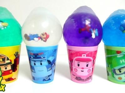 Learning Colors StressBall Balloon Orbeez DIY Robocar Poli Super Mario Surprise Eggs