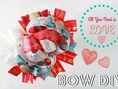 Let's make a hairbow! Boutique Stacked hairbow tutorial (All you need is LOVE)
