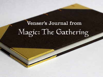 Making a book  inspired by Venser's Journal from Magic: The Gathering (custom order)