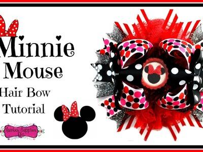 Minnie Mouse Hair Bow Tutorial - Hairbow Supplies, Etc.