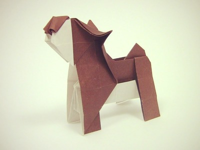 Origami Dog easy by Yakomoga | Como fazer um cão origami - Yakomoga Origami tutorial
