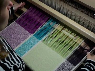 Weaving on my brand new floor loom!
