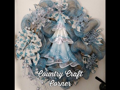 Blue Snowflake Wreath Tutorial