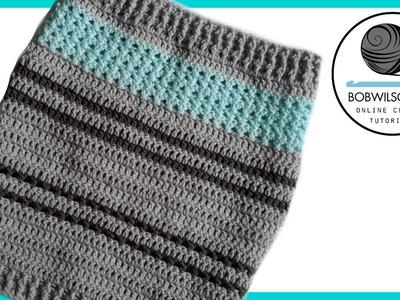Crochet stitch sampler cowl tutorial