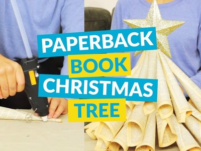 DIY Christmas Tree Craft From An Old Book