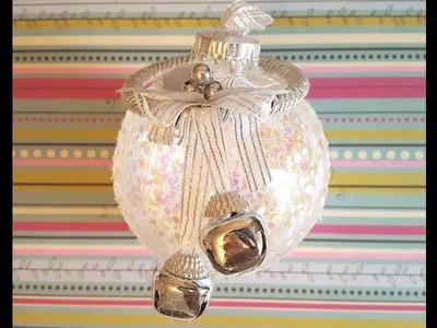 DIY Glitter Ornament -  Christmas Crafts