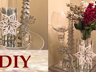 DIY Holiday Vase or Candle Holder - Dollar Tree