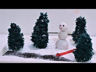 DIY-How To Make Winter Garden.DIY Projects for Christmas Decoration.
