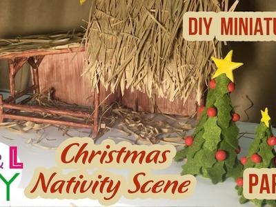 DIY Miniature Christmas Nativity Scene | How to make a Miniature Christmas Crib | Part 1
