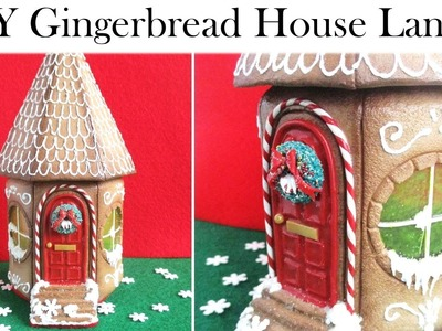 DIY Polymer Clay Christmas Gingerbread House Lantern.Jar Tutorial. Maive Ferrando