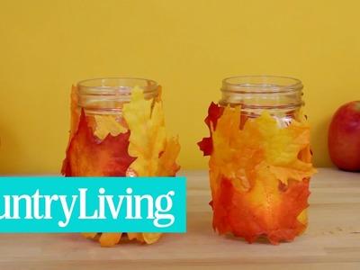 Fall Leaf Mason Jar | CL