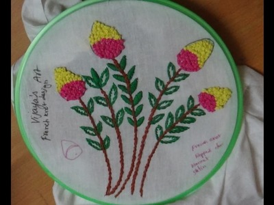Hand Embroidery Designs # 163 -  French knot stitch designs