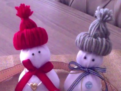 Homemade DIY Christmas Decorations - Sock Snowman | Room service!. deco