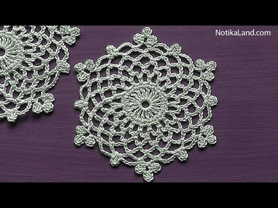 How to Crochet Snowflake Pattern Ornament  EASY Tutorial