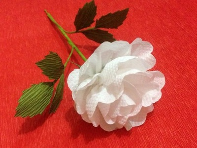 How to Make Rose Tissue Paper Flowers - Flower Making of Tissue Paper - Paper Flower Tutorial