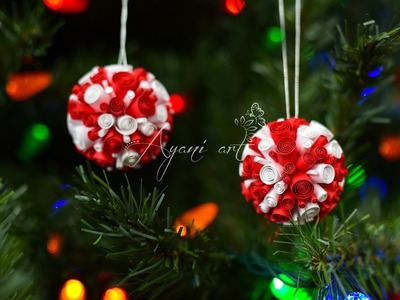 Quilling Tutorial - Super Easy DIY Christmas Ball Ornaments