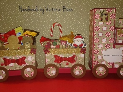 Stampin up xmas count #1 Santa's Train tutorial part 2
