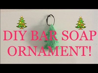 DIY BAR SOAP CHRISTMAS ORNAMENTS!!