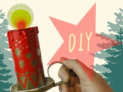 DIY CANDLES with toilette PAPER ROLLS * Xmas idea by ART Tv