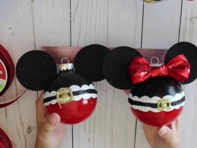 DiY Mickey and Minnie Christmas Ornament